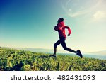 fitness young woman trail... | Shutterstock . vector #482431093