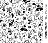 fun doodle things black and... | Shutterstock .eps vector #482440213