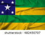 waving flag of sergipe state ... | Shutterstock . vector #482450707