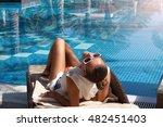 beautiful woman relaxing in... | Shutterstock . vector #482451403