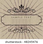 vintage frame. vector... | Shutterstock .eps vector #48245476