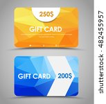 design gift cards of different... | Shutterstock .eps vector #482455957