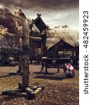 fantasy medieval training camp...   Shutterstock . vector #482459923