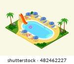 realistic isometric outdoor... | Shutterstock .eps vector #482462227