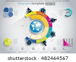 vector infographic template... | Shutterstock .eps vector #482464567