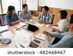 asian business people... | Shutterstock . vector #482468467