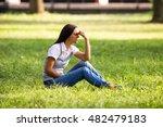 beautiful businesswoman is... | Shutterstock . vector #482479183