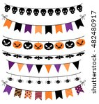 vector banners  bunting and... | Shutterstock .eps vector #482480917