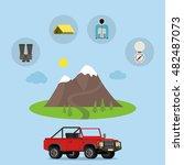 set of camping equipment... | Shutterstock .eps vector #482487073