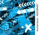 abstract seamless  grunge ... | Shutterstock .eps vector #482488687