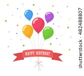 happy birthday text box  color... | Shutterstock .eps vector #482488807