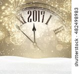 2017 new year background with... | Shutterstock .eps vector #482498983