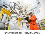 operator recording operation of ... | Shutterstock . vector #482501983