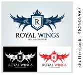 royal wings logo design... | Shutterstock .eps vector #482505967