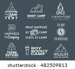 camping logo design set with... | Shutterstock .eps vector #482509813