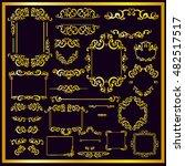 vintage gold frames  dividers ... | Shutterstock .eps vector #482517517