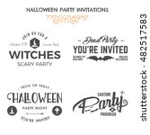 halloween 2016 party invitation ... | Shutterstock . vector #482517583