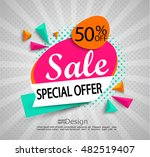sale   special offer    bright... | Shutterstock .eps vector #482519407