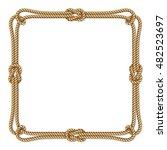 yellow rope woven vector border ... | Shutterstock .eps vector #482523697