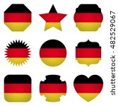 germany flag with different... | Shutterstock .eps vector #482529067