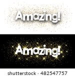 amazing paper banner with... | Shutterstock .eps vector #482547757