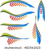 vehicle graphics  stripe  ... | Shutterstock .eps vector #482561023