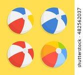 beach ball vector icon set... | Shutterstock .eps vector #482562037