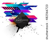 geometric background. template... | Shutterstock .eps vector #482566723