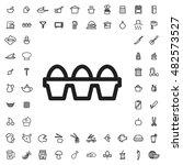 egg icon illustration isolated... | Shutterstock .eps vector #482573527