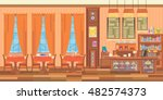 cafe shop interior design.... | Shutterstock .eps vector #482574373
