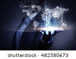global connection technologies ....   Shutterstock . vector #482580673