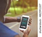 alarm clock time management... | Shutterstock . vector #482591107