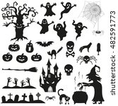Halloween Spooky Black...