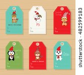 merry christmas gifts tags ... | Shutterstock .eps vector #482599183