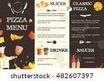 menu template for restaurant... | Shutterstock .eps vector #482607397