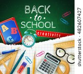 back to school design concept... | Shutterstock .eps vector #482607427