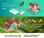 internet of things smart home...   Shutterstock .eps vector #482609857