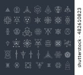 sacred geometry signs... | Shutterstock .eps vector #482610823