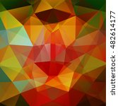 Background Of Geometric Shapes...
