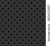 Tile Pattern With Black Polka...