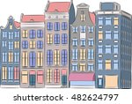 traditional colorful old houses ... | Shutterstock .eps vector #482624797