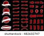 ribbon vector icon red color on ... | Shutterstock .eps vector #482632747