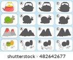 match shadow   worksheet for... | Shutterstock .eps vector #482642677