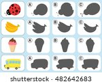 match shadow   worksheet for... | Shutterstock .eps vector #482642683