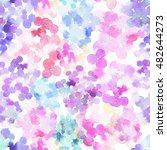 pink blobs watercolor background | Shutterstock . vector #482644273