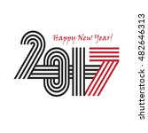 2017 happy new year trendy and... | Shutterstock . vector #482646313