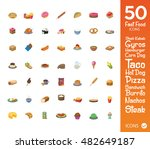 set of food icons in set | Shutterstock .eps vector #482649187