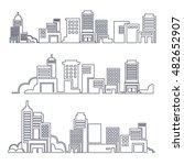 set of vector flat design... | Shutterstock .eps vector #482652907