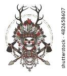 vector illustration of a dead...   Shutterstock .eps vector #482658607