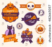 halloween badges and labels  ... | Shutterstock .eps vector #482665057